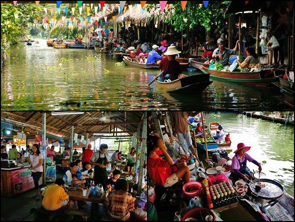 曼谷百分百在地的「空叻瑪榮水上市場」(Klong Lat Mayom Floating Market)