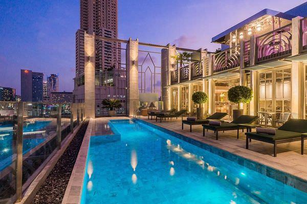 【曼谷飯店】來Akara Hotel Bangkok當一晚英國貴族!奢華大理石浴室不輸半島酒店,景觀泳池、時尚餐廳,還內建廚藝學校,讓人住到都不想回家啦